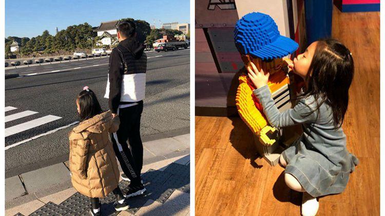 秦升一家日本度假 娇妻带娃画面温馨