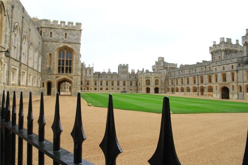 136、城堡中精心修剪的草坪