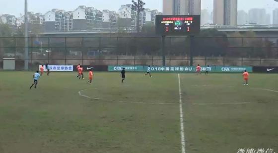 刘超阳破门 U23联赛鲁能1-2不敌大连位列第4