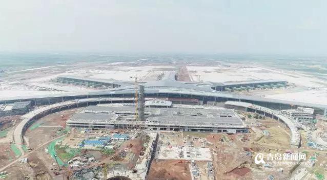 胶东机场航站楼主体结构完工 开始全面精装修和设备调试