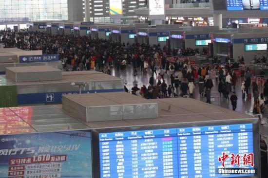 元旦小长假首日全国铁路预计发送旅客1200万人次