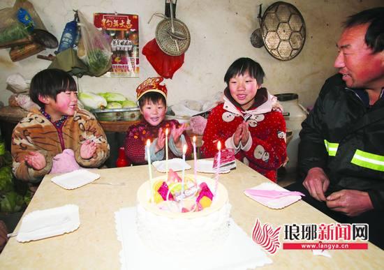 临沂:庆祝别样生日 11岁女孩如愿为妹妹点燃蜡烛
