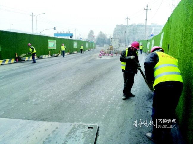 """济南市政道路施工""""新风尚"""",将扰民降到最低限度"""