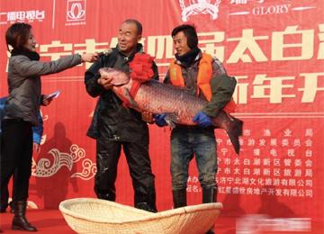 济宁市第四届太白湖捕鱼节开幕 头鱼重达81.8斤