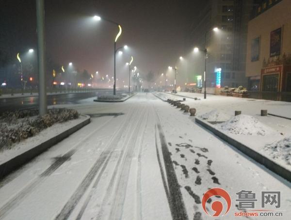 菏泽迎来2019年首场降雪