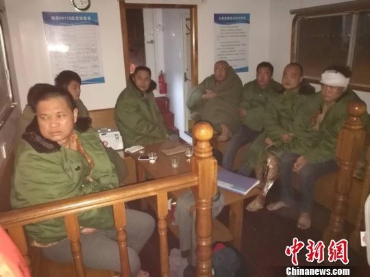 珠江口大虎山附近水域一货船沉没 8人获救3人失踪