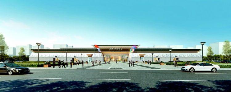 市展览中心预计8月份全部完工建设有序推进,展厅主体框架基本完成
