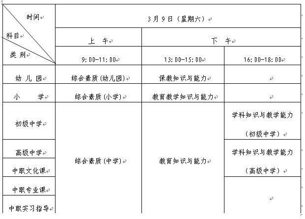 山东省2019年上半年中小学教师资格考试(笔试)报名事项公告