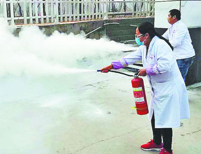 淄川留仙湖老年养生中心开展消防演练