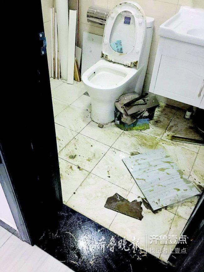 济南一业主遇糟心事!污水倒灌泡了新房,物业这样说