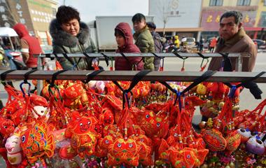 青岛:春节临近 乡村大集年味渐浓