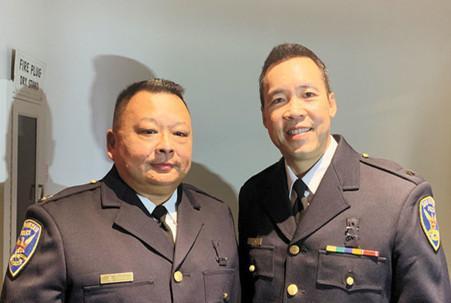 美国旧金山警察局举办晋级仪式 两华裔入领导层