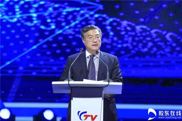 省广播电视局副局长党组副书记孙杏林致辞