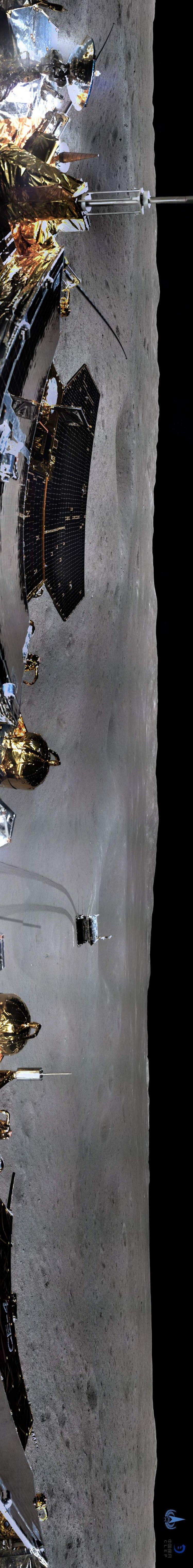 嫦娥四号地形地貌相机顺利完成360度环拍 一起看图!