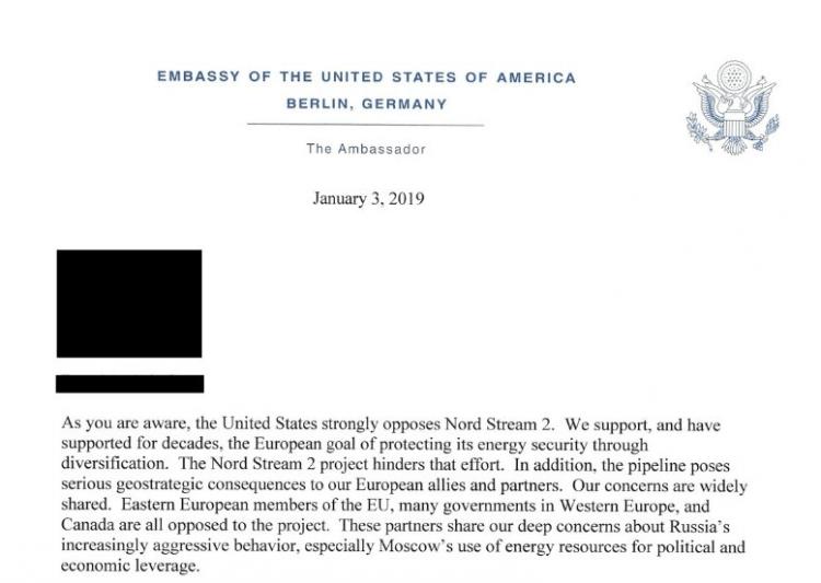 不满俄欧北溪-2项目,美国暗示制裁德企 还强调称这不是威胁
