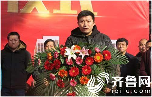 滨州帝堡置业有限公司总经理滕晶晶宣布封顶