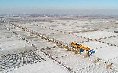 零下十度!潍莱高铁建设者顶风冒雪施工忙