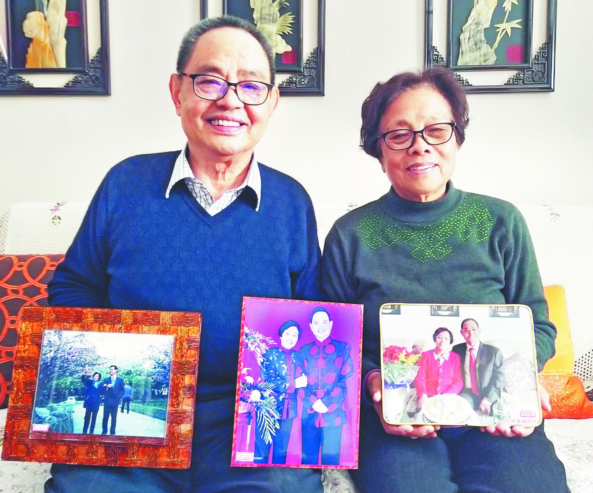 淄博金婚夫妇牵手55载 上万张照片记录他们的幸福时光