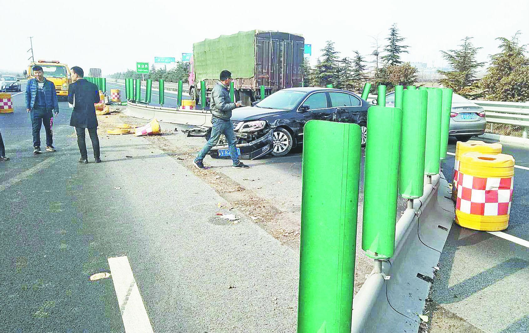 3车追尾 济青高速交通秩序受影响1个小时
