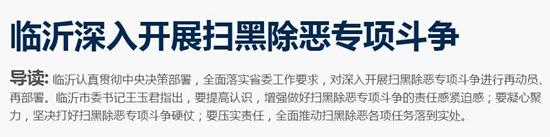 """临沂市纪委起底线索 查处涉黑涉恶""""保护伞""""40起"""