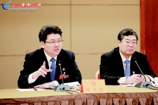田庆盈参加诸城代表团审议政府工作报告