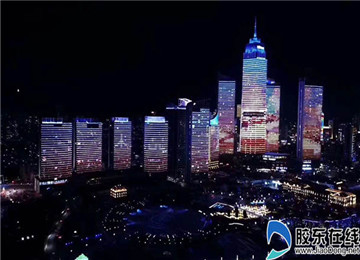 烟台市区灯光秀腊月二十八正式亮相 至正月十六
