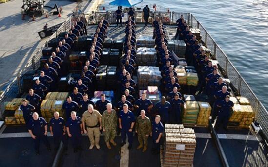 美国海岸警卫队在太平洋查获约16吨可卡因