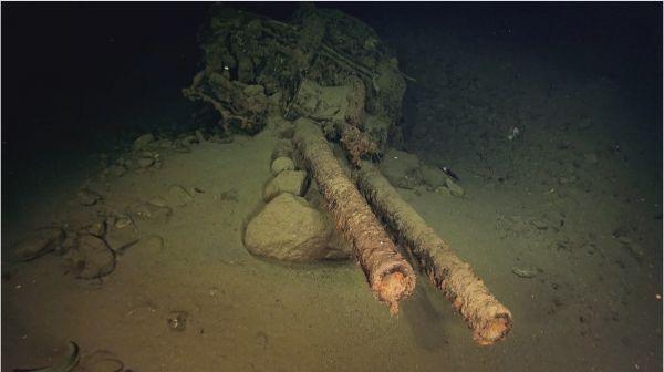 """美团队发现二战日本战列舰残骸 曾为昭和天皇""""御召舰"""""""