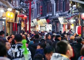 正月年味浓 济南芙蓉街成天南海北吃货天堂