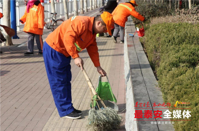 泰安:1900名环卫工作者全员上岗 6天清理6850余吨垃圾