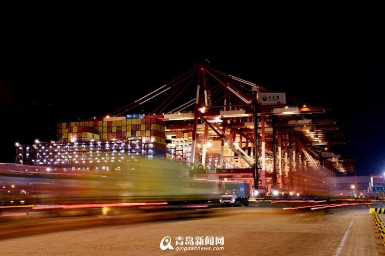 春节假期青岛港再创新记录 自动化码头单机效率创新高