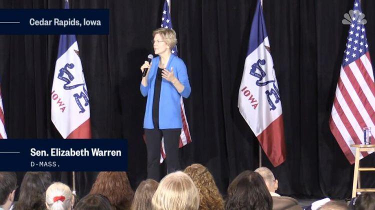 民主党女参议员用这话启动总统竞选 :2020年,特朗普可能已经入狱