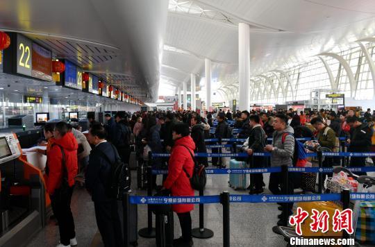 宁夏春节期间空港出行旅客17.2万人次