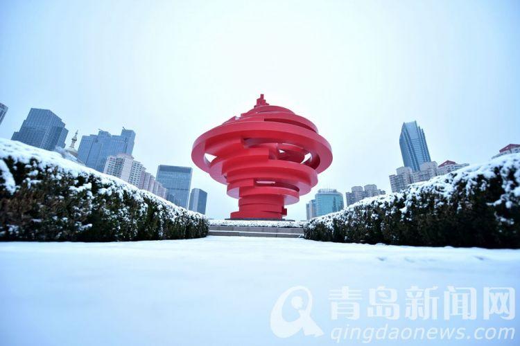 高清:猪年喜迎第一场瑞雪 正月青岛再现童话世界