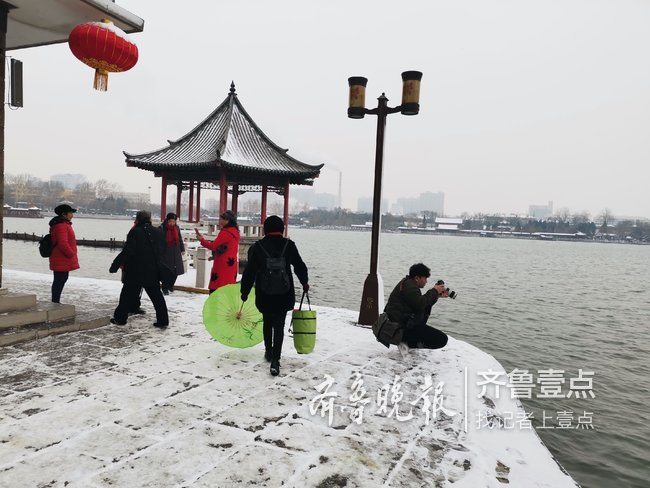 """泉城初雪下在""""情人节"""",快许下美好的心愿!"""