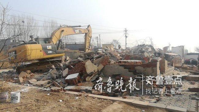 济南吴家堡街道拆违,村内1400平违建拆除复耕复种