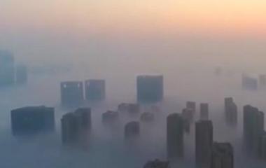 33秒丨济南现平流雾奇观 朦胧似天空之城