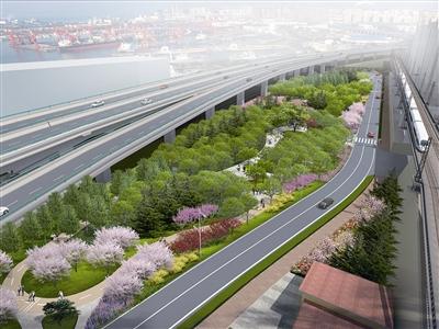 不堵了!新冠高架路渤海路匝道将于3月底建成通车