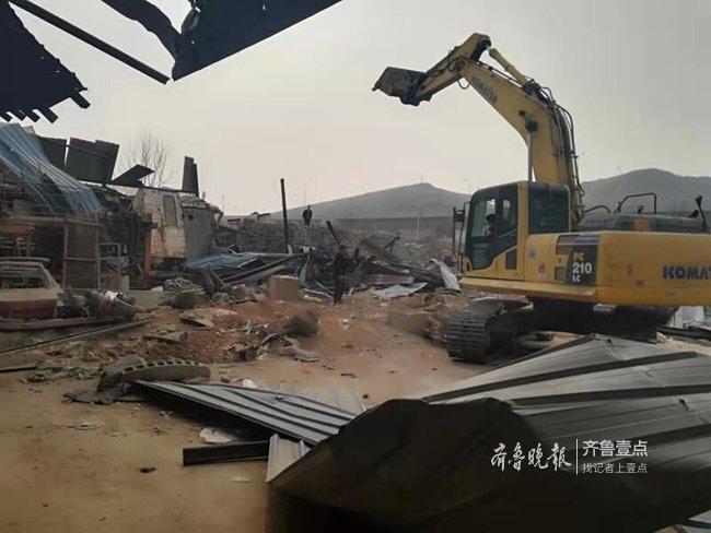未办理相关手续,济南这5处3万余平方米违建被拆除