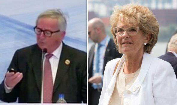 欧委会主席容克开会发言又接电话:老婆打的,我不接她不会停