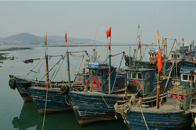 青岛沿海早春赶海忙 渔民修船补网欢迎春渔汛(图)