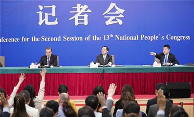 """2019两会:外交部部长王毅就""""中国外交政策和对外关系""""相关问题答记者问"""