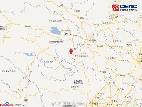 青海黄南州泽库县发生4.3级地震 震源深度10千米