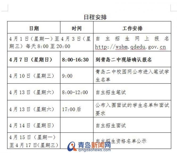 青岛二中公布2019自招方案 面向市内三区及崂山招150人