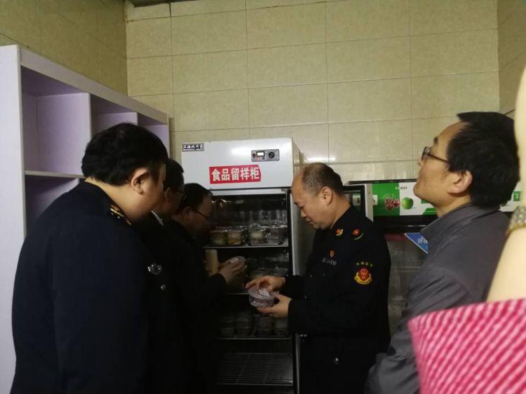 315,济南高新区开展校园食品安全联合检查