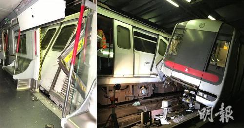港铁:2列车相撞修复难度高 19日未必可恢复正常服务