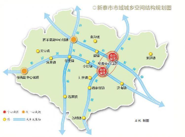 """近日,《新泰市城市总体规划(2018-2035)》获得山东省人民政府批复(鲁政字〔2019〕35号)。截至2035年,新泰市行政辖区范围总面积约1946平方公里,按照城乡一体、城景融合、组团布局的发展模式,未来,新泰中心城区将形成""""双核引领、五轴带动、两区融合、六组联动""""的城市空间结构。 城市性质定位为 具有山水文化品质的生态宜居城市 根据规划,新泰市行政辖区范围总面积约1946平方公里,到2022年,新泰市域常住人口140万人,规划远期2035年新泰市域常住人口150万人。规划"""