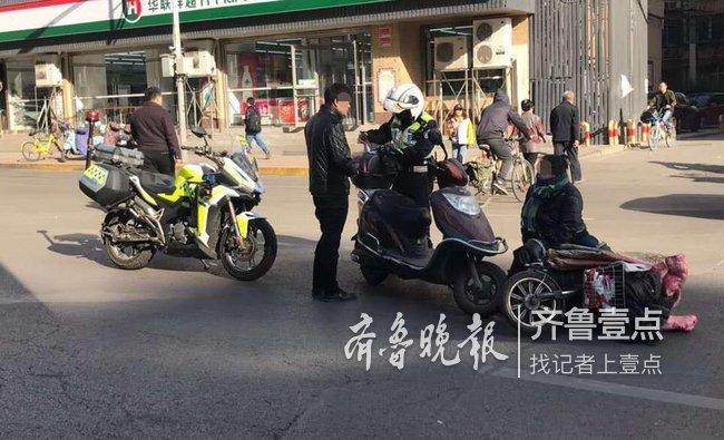 情报站|济南经二纬一路两电动车相撞,一女子倒地送医