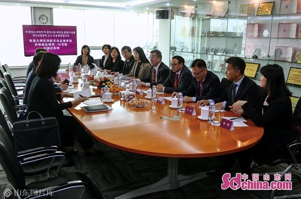 中国山东网接待韩国驻青岛总领事一行