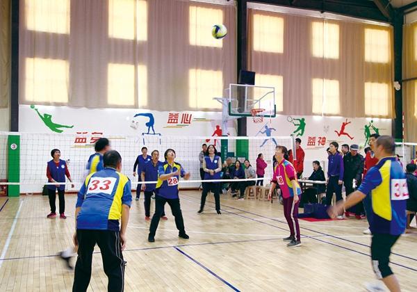 济南中老年人活动气排球先行